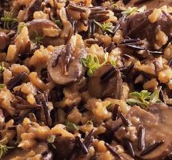 תבשיל אורז ערמונים ופטריות