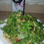 סלט ירוק עם שמן בטעם בצל