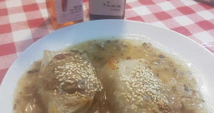 בורקס דיאטטי עם דפי אורז ושמן בטעם בצל